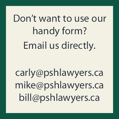 psh lawyers email address graphic
